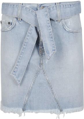 Givenchy Light Blue Cotton Denim Skirt