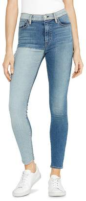 Hudson Barbara Reverse Panel Jeans in Inverted Indigo
