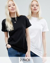Asos The Ultimate Easy Longline T-Shirt 2 Pack