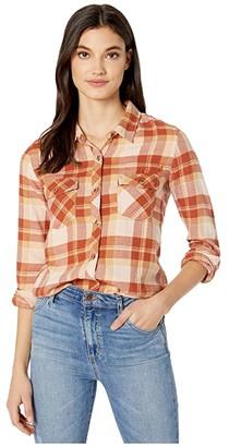 Volcom Getting Rad Plaid Long Sleeve (Nutmeg) Women's Clothing