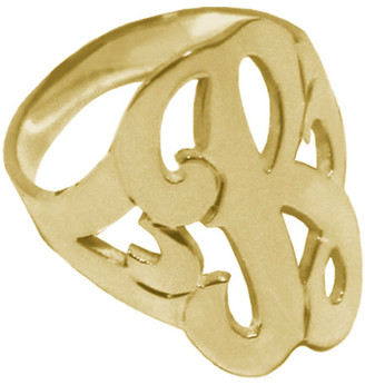Jane Basch 22K Over Silver Single Initial Ring (A-Z)