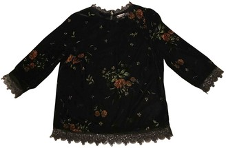 La Petite Francaise Black Velvet Top for Women