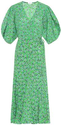Rhode Resort Fiona floral cotton wrap dress
