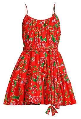 Rhode Resort Women's Nala Floral Pleated Flare Dress