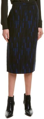 St. John Mosaic Jacquard Pencil Skirt
