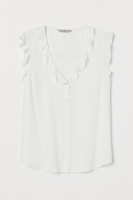 H&M Flounced crepe blouse