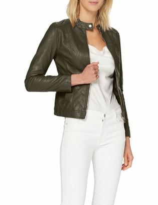JDY Women's JDYSTORMY Faux Leather Jacket OTW NOOS