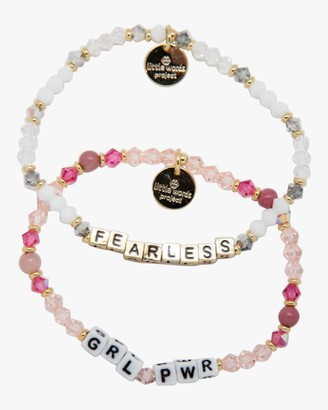 Little Words Project GRL PWR Fearless Beaded Bracelet Set
