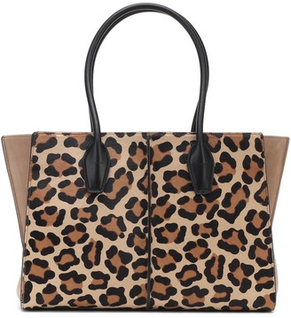 Tod's Holly Medium leopard-print suede tote