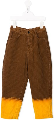 The Animals Observatory Corduroy Two-Tone Trousers