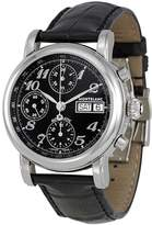 Montblanc Mont Blanc Men's Star 38mm Black Leather Band Steel Case Automatic Watch 08451