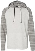 Burnside Striped Sleeve Hooded Pullover.B8127