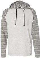 Burnside Striped Sleeve Hooded Pullover.B8127