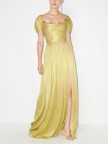 Thumbnail for your product : Maria Lucia Hohan Sharon short-sleeve pleated gown