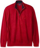 Nautica Men's Big and Tall Pima Blend Quarter-Zip Sweater