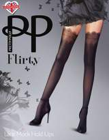 Pretty Polly Lace Mock Hold-Ups Tights