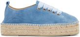 Manebi Blue Suede Hamptons Sneaker Espadrilles