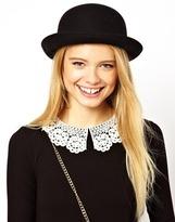 ASOS Roll Brim Felt Boater Hat - Black