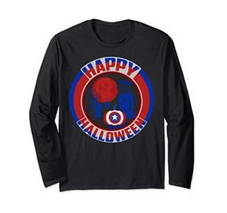 Marvel Captain America Shield Happy Halloween Long Sleeve T-Shirt