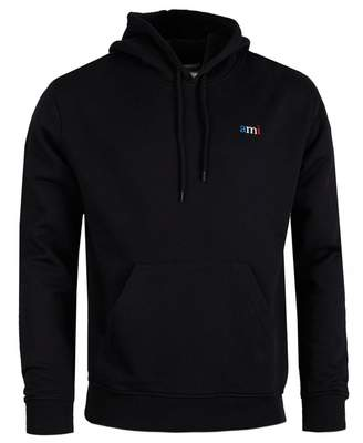 Ami Tri Colour Logo Pullover Hoody Colour: BLACK, Size: SMALL