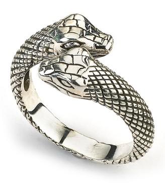 Samuel B. 18K Gold & Sterling Silver Snake Bypass Ring
