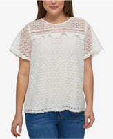 Tommy Hilfiger Plus Size Cotton Lace Top