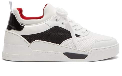 huge selection of e925c cabd7 Aurelien Low Top Leather And Neoprene Trainers - Mens - White