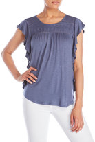 RXB Embroidered Ruffle Top