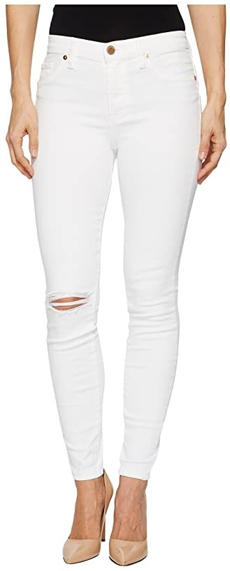 Blank NYC Mid-Rise Distressed Skinny in Great White