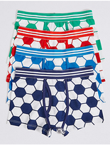 Marks and Spencer 4 Pack Cotton Trunks with Stretch (2-16 Years)