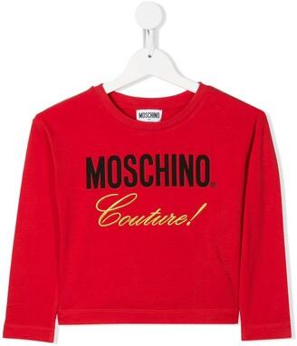 MOSCHINO BAMBINO Cropped Logo Sweatshirt