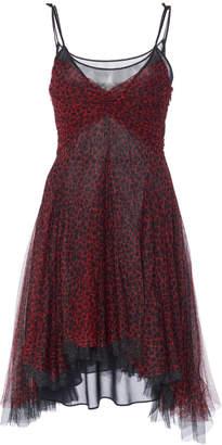 Philosophy di Lorenzo Serafini Cheetah-Print Tulle Mini Dress