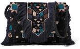 Antik Batik Taselled-Beaded Textured Cotton-Blend Shoulder Bag