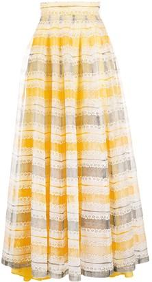 A.N.G.E.L.O. Vintage Cult 1970s Panelled Floral Motif Skirt