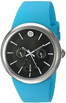 Philip Stein Teslar ' Quartz Stainless Steel and Silicone Automatic Watch, Color:Blue (Model: F43S-LCB-TQ)