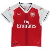 Puma Kids Arsenal Home Shirt 2016 2017 Junior Boys Tee Top Football Short Sleeve