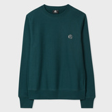 Paul Smith Men's Teal Embroidered PS Logo Organic-Cotton Sweatshirt