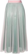 MSGM Pleated Midi Skirt - Aqua