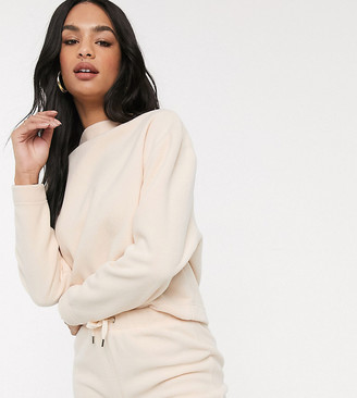 Micha Lounge high neck sweatshirt in fleece co-ord