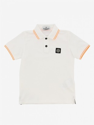Stone Island Junior Polo Shirt With Short Sleeves And Logo