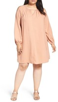 Glamorous Cold Shoulder Shift Dress (Plus Size)