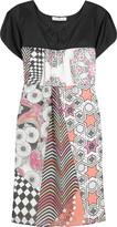 Patchwork silk dress