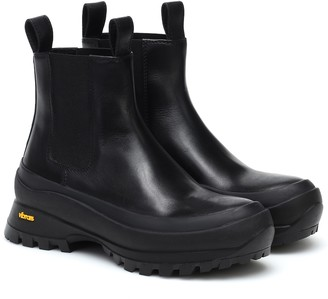 Jil Sander Chelsea leather boots