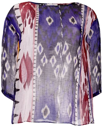 Forte Forte Patterned Sheer Tunic Top