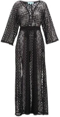 Melissa Odabash Nina Long Lace-embroidered Kaftan - Womens - Black