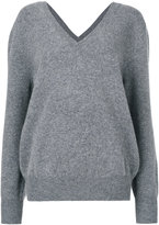 Victoria Beckham V neck sweatshirt - women - Wool - 1