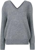 Victoria Beckham V neck sweatshirt