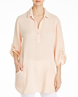 XCVI Arden Puckered Gauze Tunic