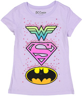 Jerry Leigh Lilac DC Comics Shield Short-Sleeve Tee - Girls