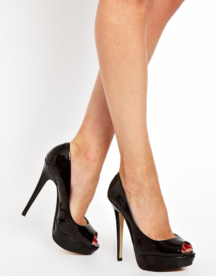 Aldo Engram Platform Peeptoe Court shoes